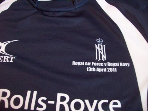 Royal Navy Player Issue Vs Raf 2011 Rugby Union Shirt