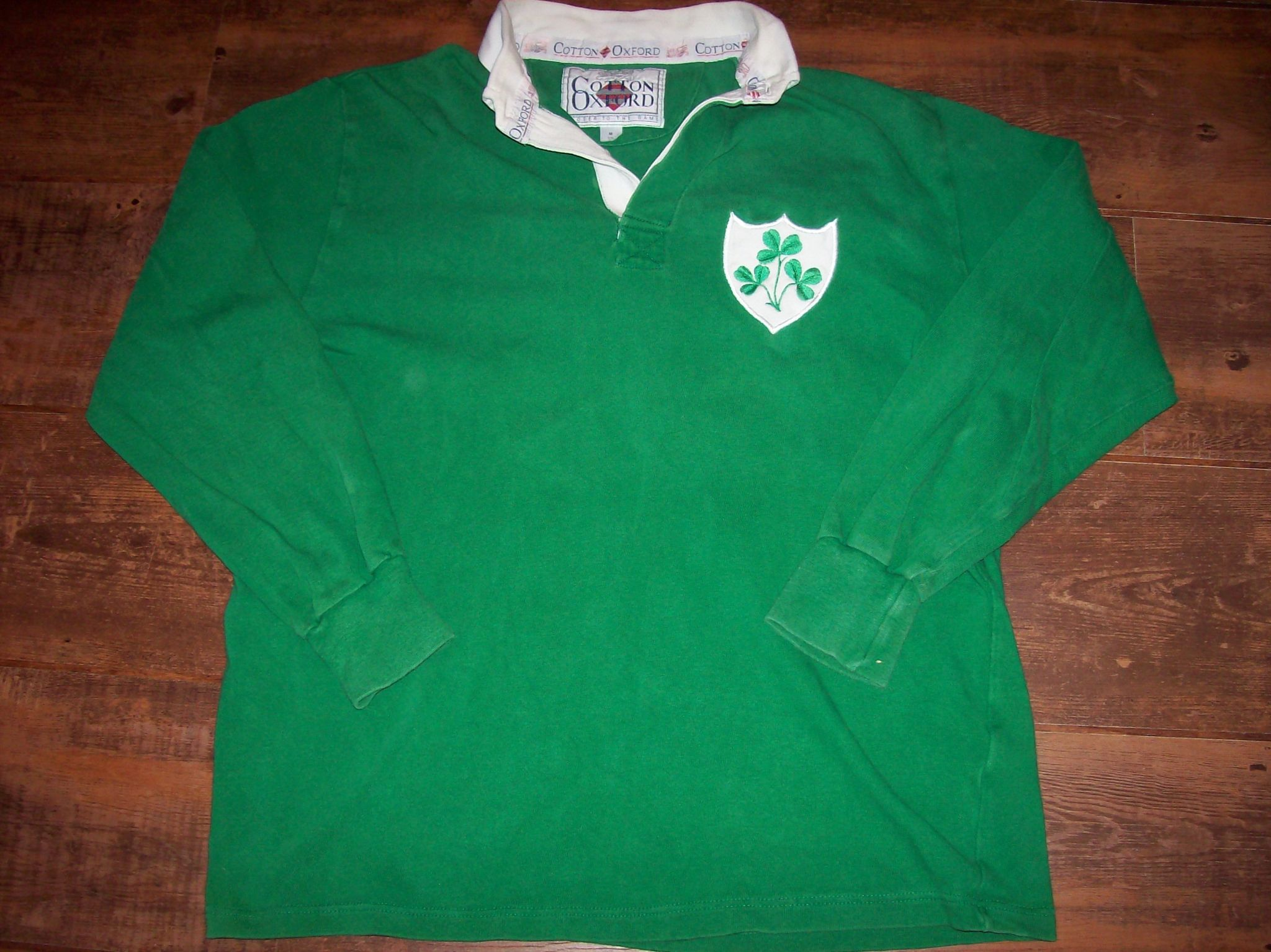 3fdcfbd4e5e 1989 1990 Ireland L/s Rugby Union Shirt Adults Medium Jersey