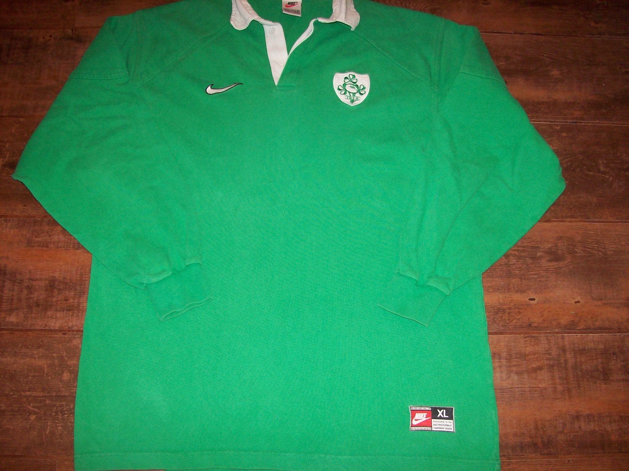 1998 1999 Ireland Rugby Union Shirt Adults XL Jersey