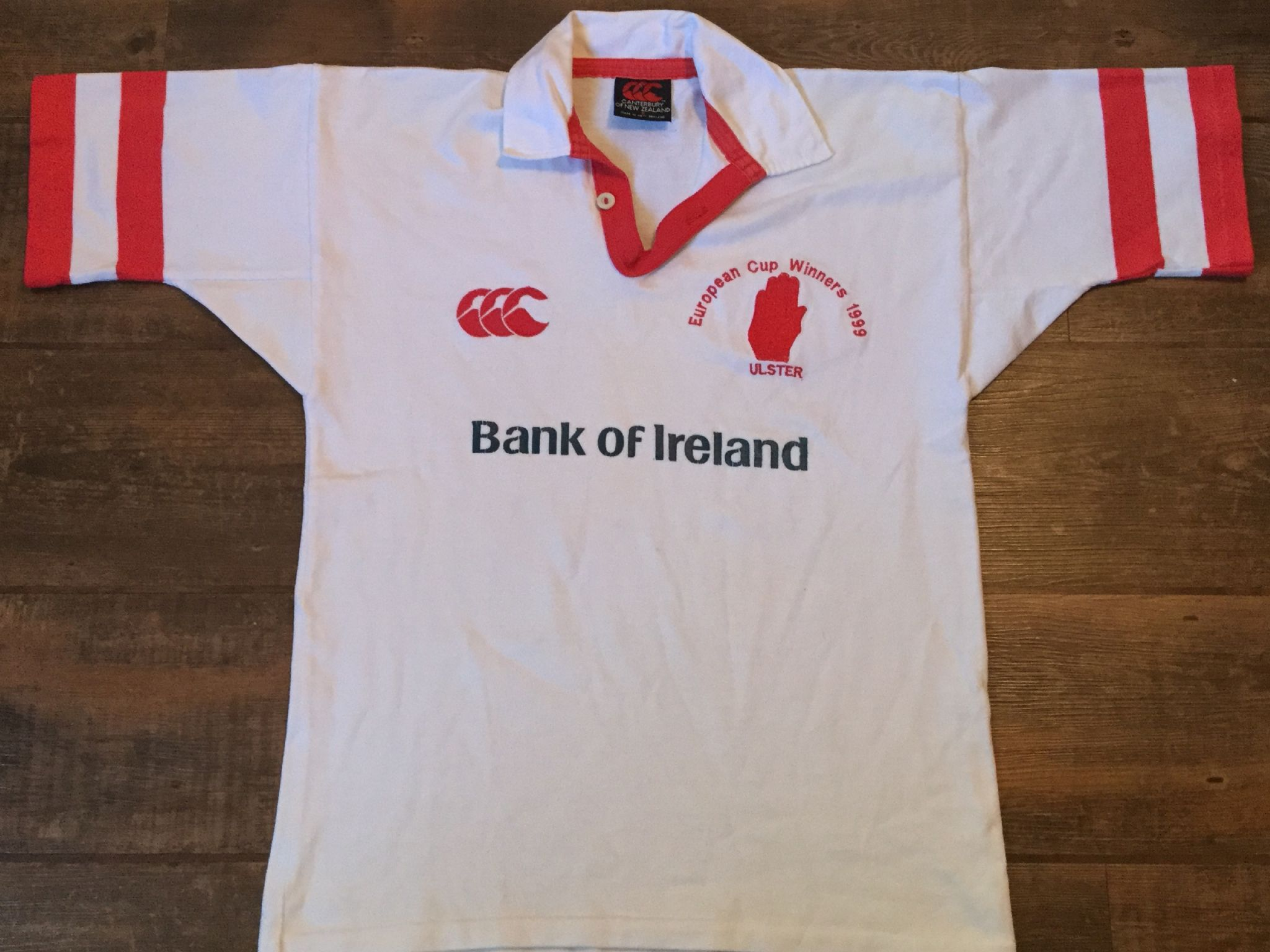 b469ba501d8 1998 1999 Ulster European Cup Winners Rugby Union Shirt Adults Small