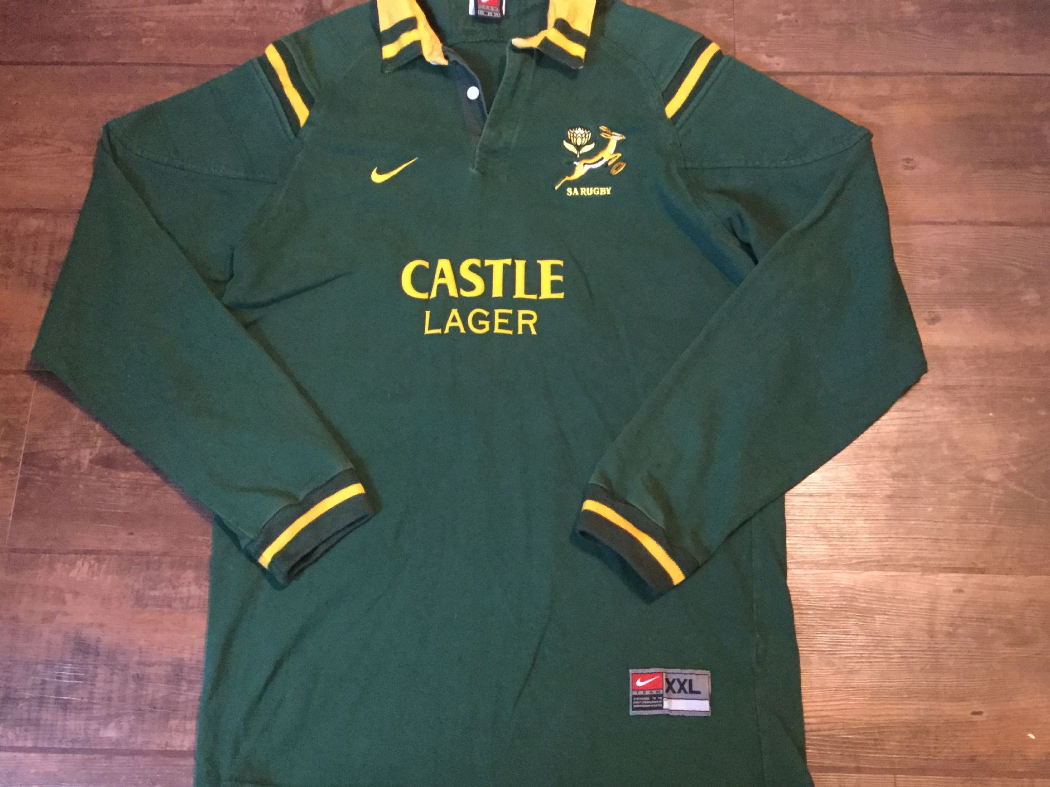 a1e8127c218 2000 2001 South Africa L/s Rugby Union Shirt Adults XXL Jersey Springboks