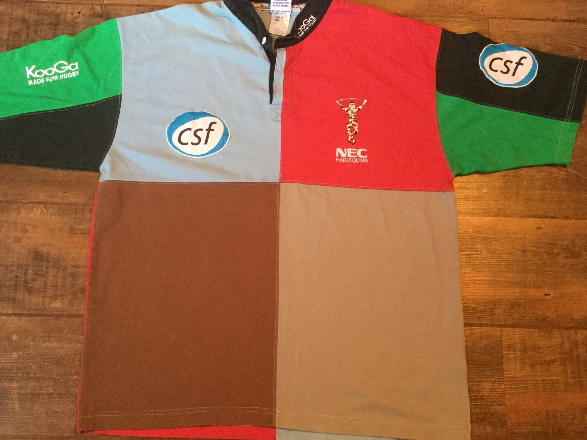 7886c59c85b 2001 2003 Harlequins Home S/s Rugby Union Shirt Adults XL Jersey