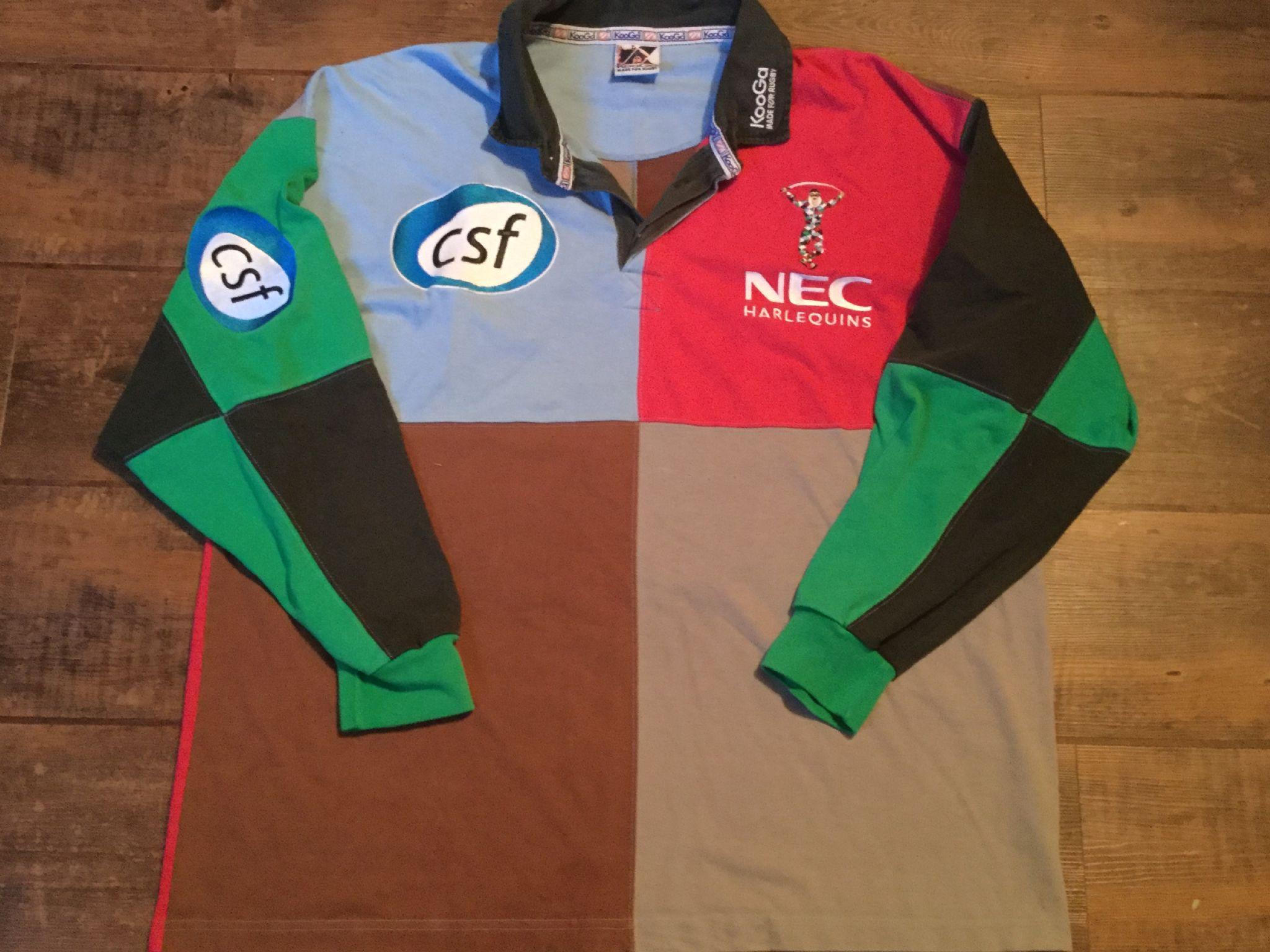 9625881faff 2003 2004 Harlequins L/s Rugby Union Shirt Adults 2XL XXL Jersey