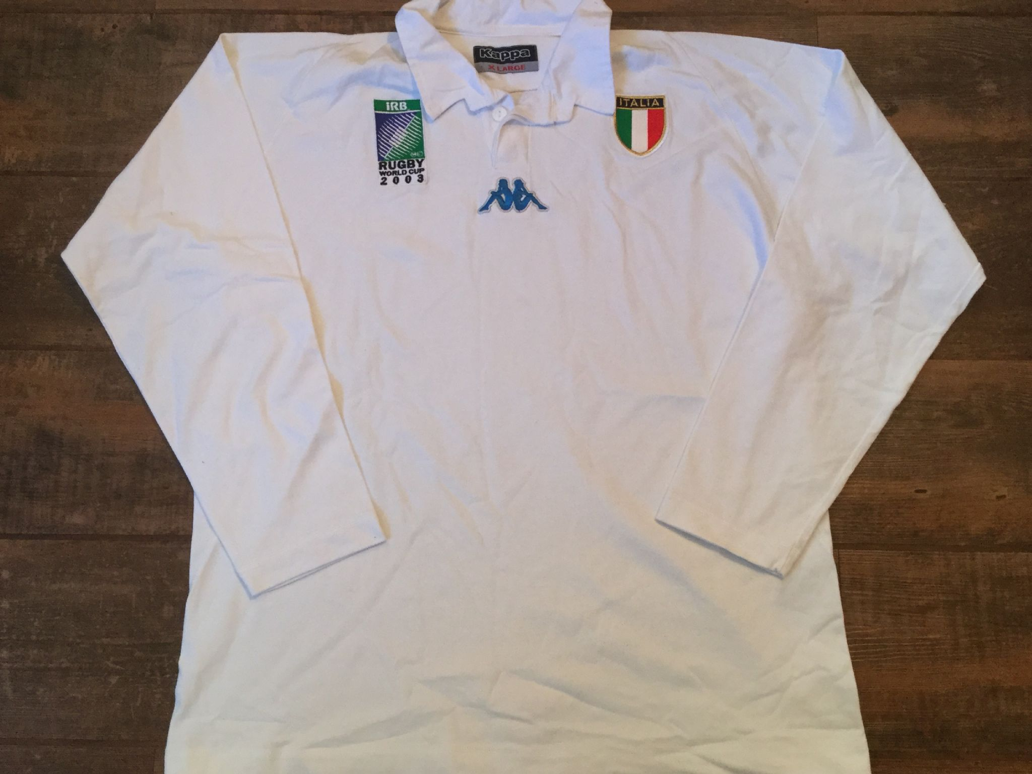 2003 Italy World Cup L s Rugby Away Shirt Adults XL b9b2aaf8b