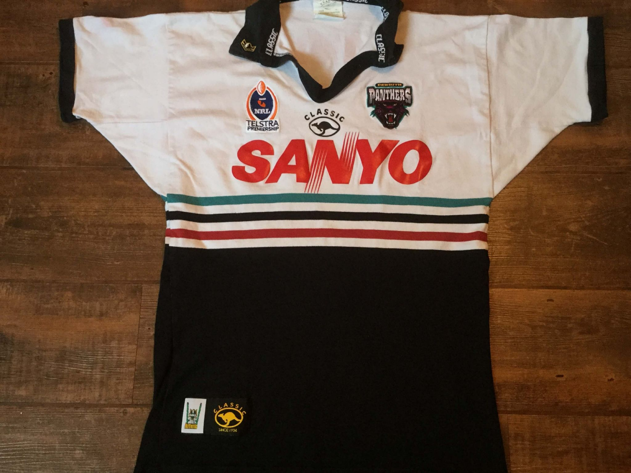 new style 5f567 8801a Classic Rugby Shirts | 2003 Penrith Panthers Vintage Old NRL ...