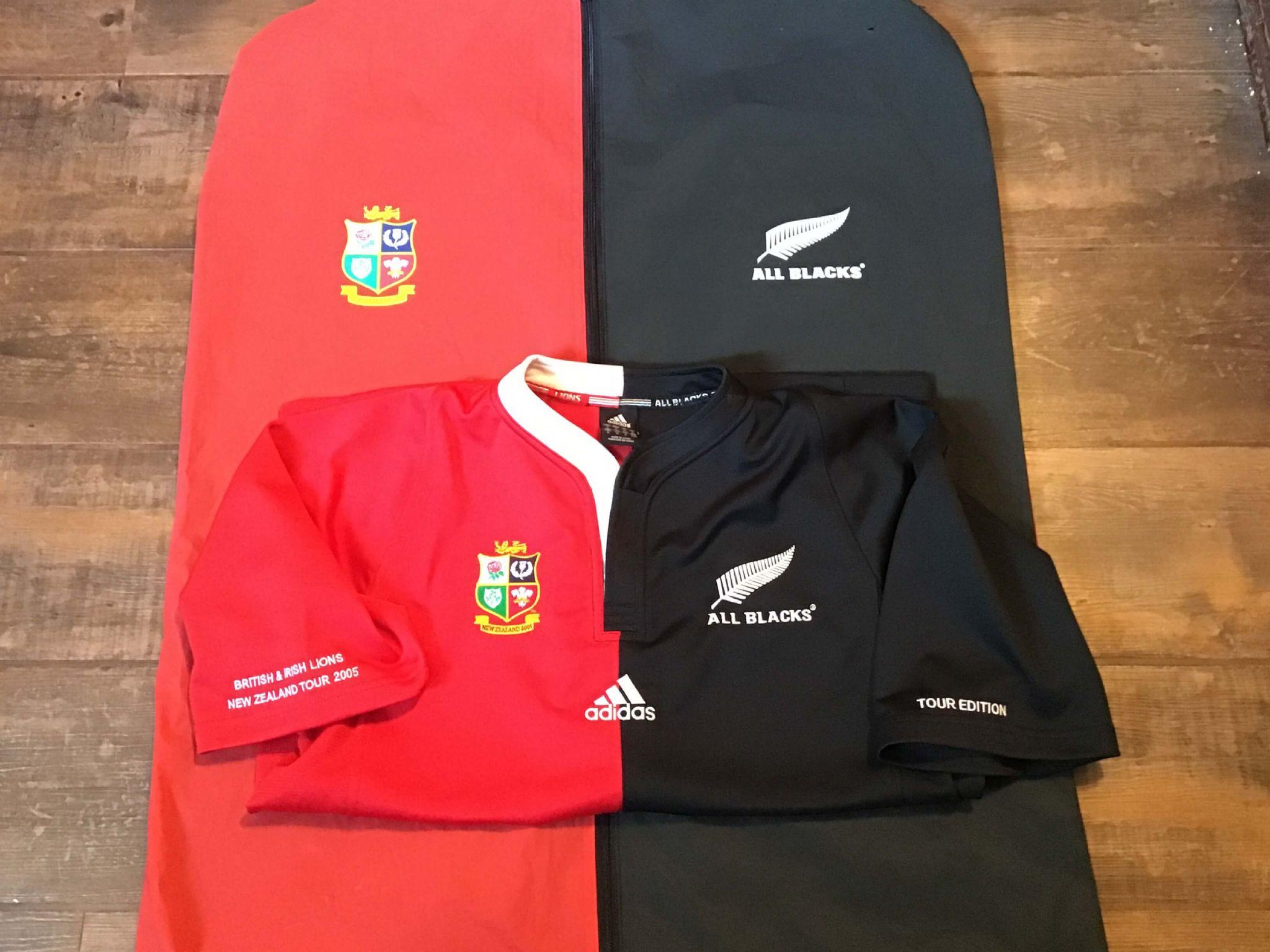 5ce05dd18b5 2005 British & Irish Lions New Zealand Ltd Edition Rugby Union Shirt &  Cover Medium