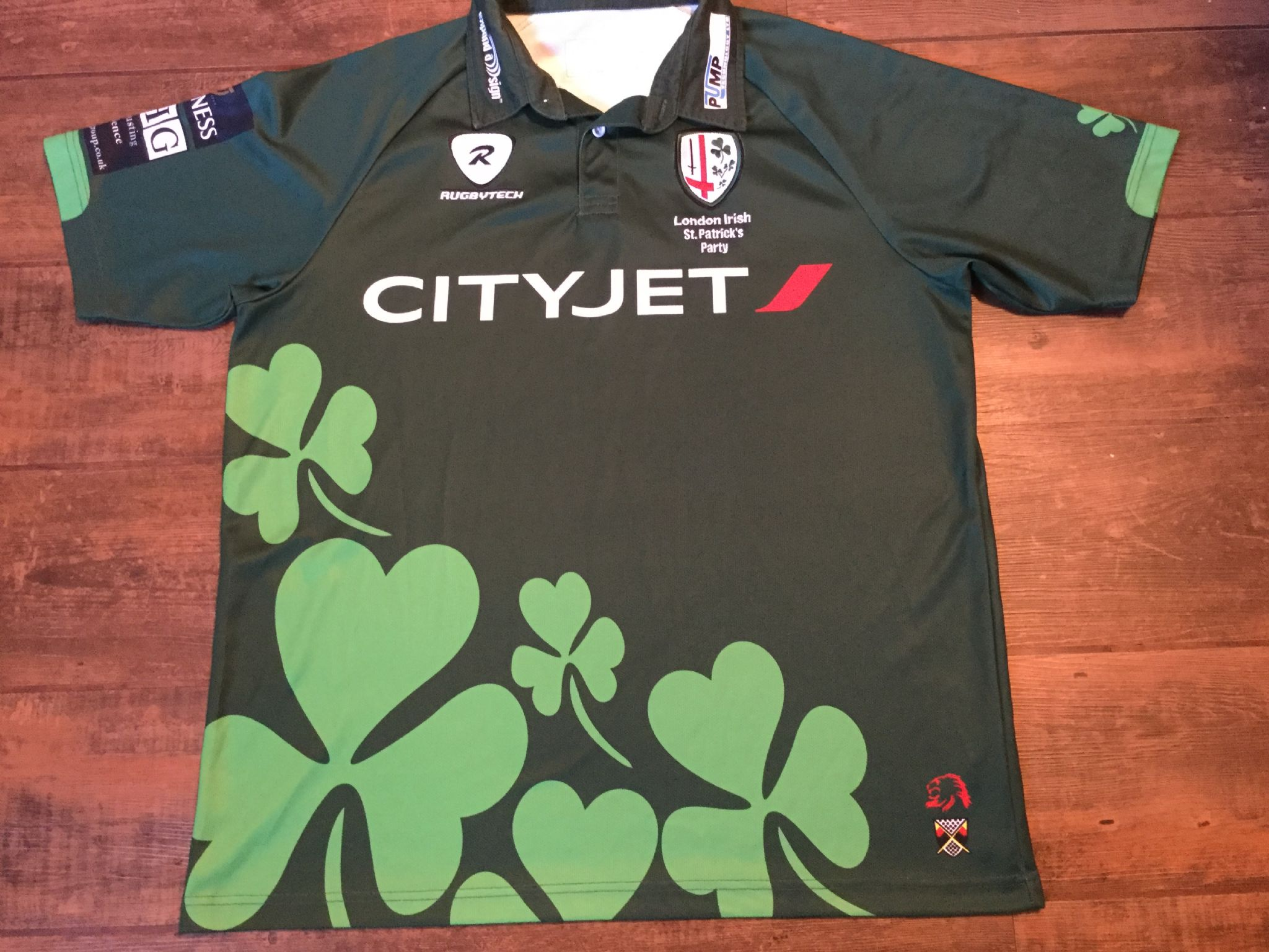 8b4593a8699 2009 2010 London Irish St Patricks Day Party Rugby Union Shirt Adults 2XL  XXL