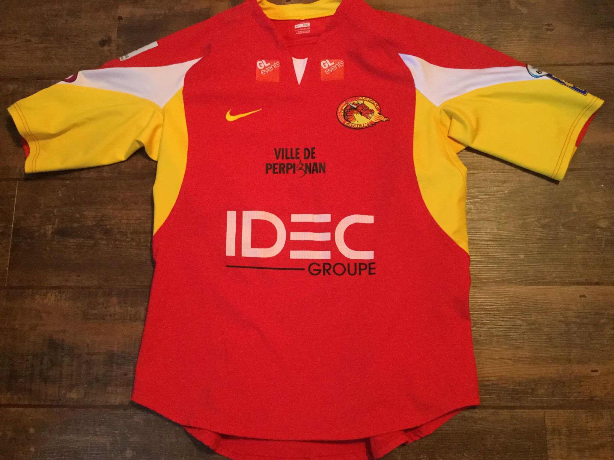 14ba9ab26 2009 Catalans Dragons Player Issue Rugby League Shirt Adults XXL