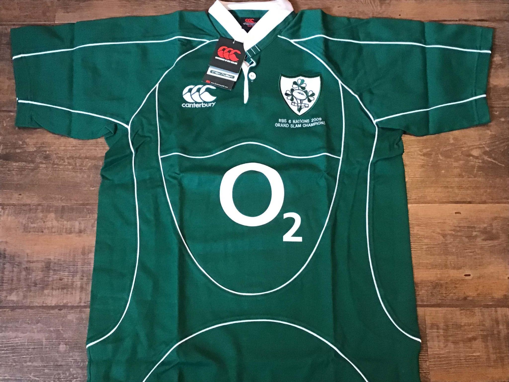 3ba3d5efef0 2009 Ireland BNWT New Grand Slam Rugby Union Shirt Medium