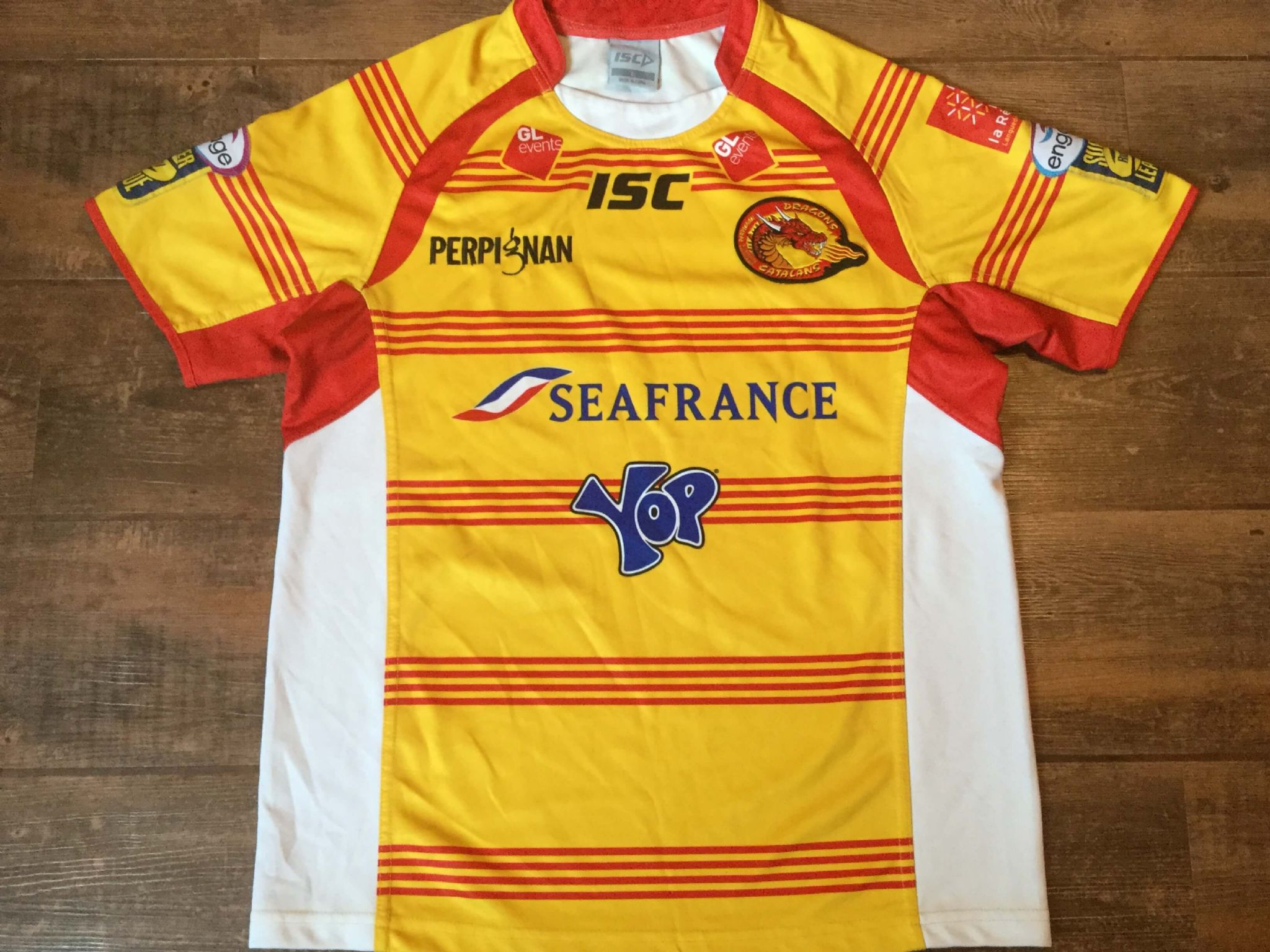 3df99efda 2011 Catalans Dragons Rugby League Shirt Adults Large
