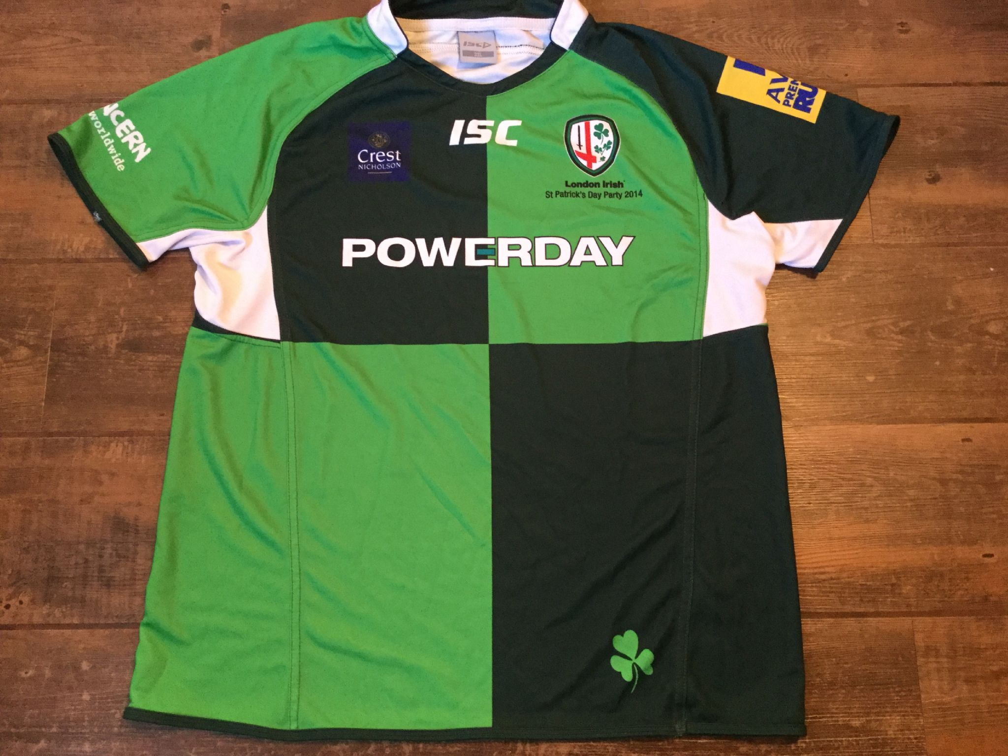 3316d62c322 2013 2014 London Irish St Patricks Day Party Rugby Union Shirt Adults 3XL  XXXL