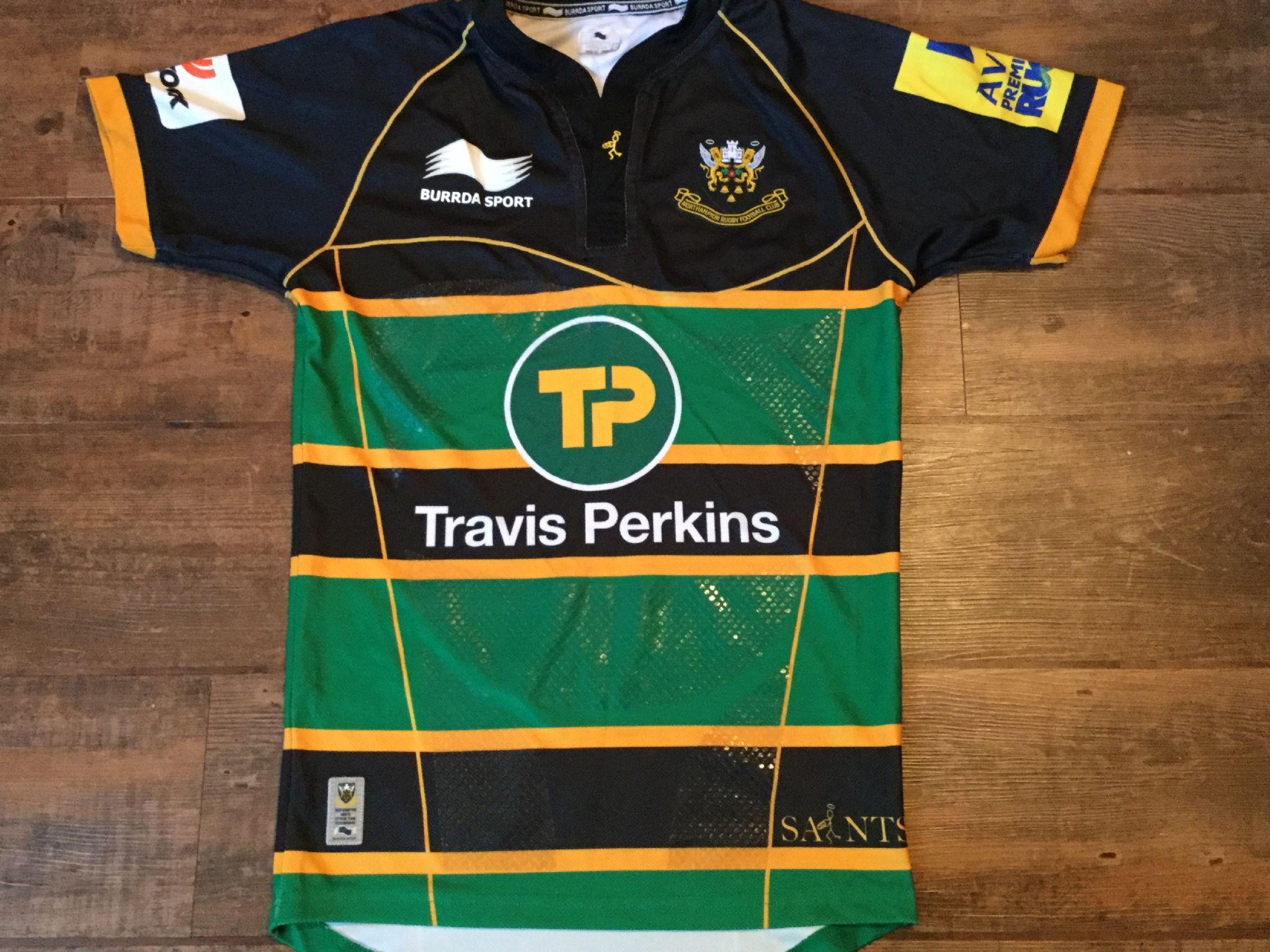 2013 2014 Northampton Pro Rugby Union Home Shirt Saints Adults Large