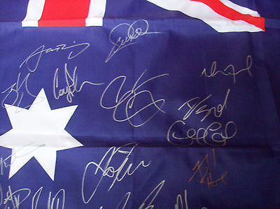 2013 Australia World Cup Rugby League Squad Signed Flag Kangaroos