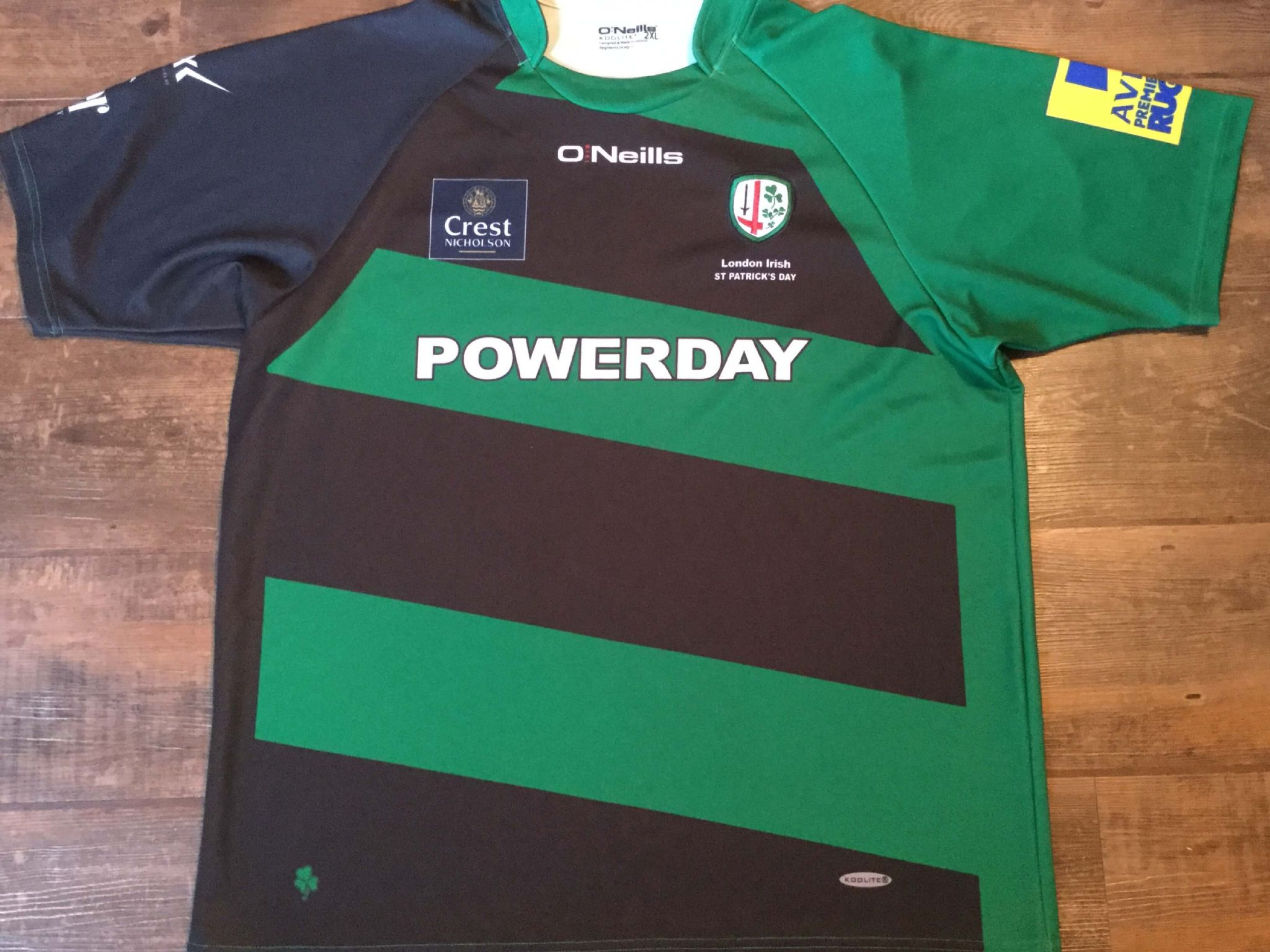53b200ba0eb 2014 2015 London Irish St Patricks Day Rugby Union Shirt Adults 2XL XXL