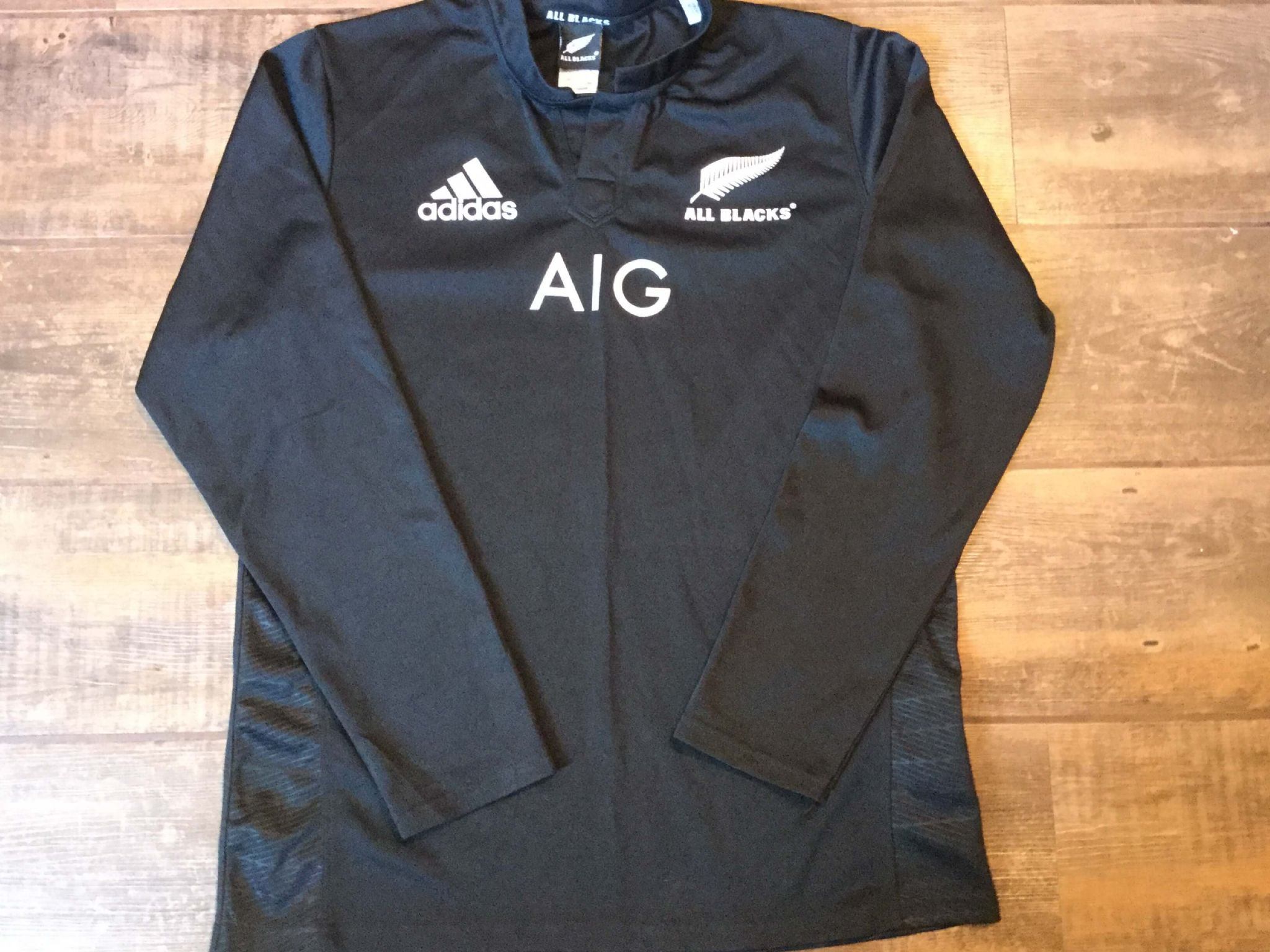 2015 2016 New Zealand Ls Rugby Union Shirt Adults Large All Blacks